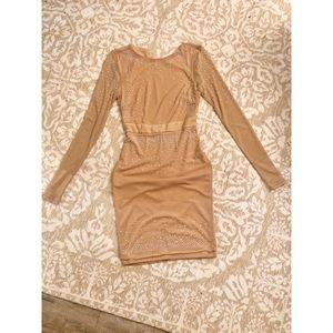Nude dress w/ sparkle embellishments
